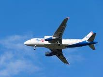 乘客空中客车A319-112乌拉尔航空公司 库存照片