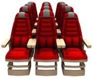 乘客航空公司喷气机供以座位例证 库存照片