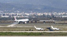 乘客飞机空中客车A-330-302卡塔尔航空 免版税图库摄影