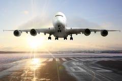 乘客飞机 库存图片
