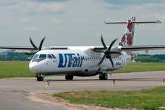 乘客ATR-72飞机 库存照片