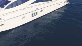 乘快艇航行的惊人的看法在海 股票 游艇的日落视图 在一条游艇的豪华假期有的朋友的 免版税库存照片