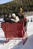 乘驾雪橇 图库摄影