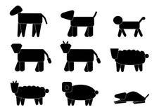 九个动物徽标 库存图片