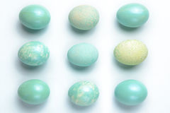 九个绿松石鸡蛋 图库摄影