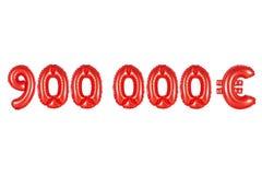 九十万欧元,红颜色 库存照片