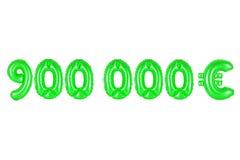 九十万欧元,绿色 免版税图库摄影