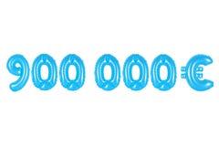九十万欧元,蓝色颜色 免版税库存图片