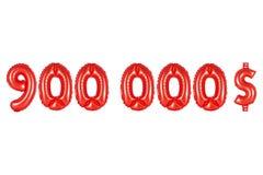 九十万美元,红颜色 免版税库存图片