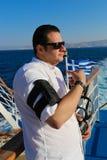 九头蛇海岛的,希腊游人 库存图片