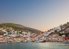 九头蛇,希腊海岛  库存图片