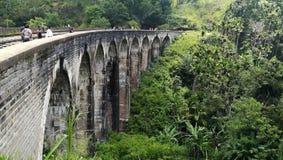 九曲拱桥梁在斯里兰卡 库存照片