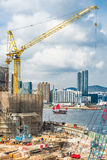 九龙地平线江边香港 免版税库存图片