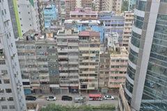 九龙mongkok的钳子lau老房子 免版税库存图片