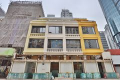 九龙mongkok的钳子lau老房子 库存照片