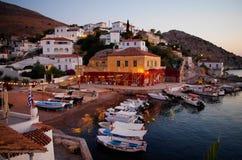 九头蛇海岛,希腊 免版税图库摄影