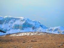乞力马扎罗山的冰室 免版税库存照片