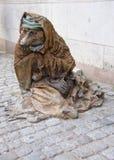 乞求熊雕象在斯德哥尔摩 免版税库存图片