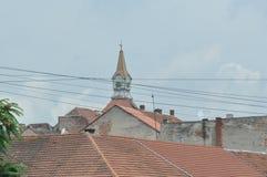 也作为酿酒厂基督教会已知的命名老安排波兰s那里耸立zywiec的城镇 免版税图库摄影