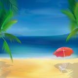 也可用的背景海滩热带向量 免版税库存照片