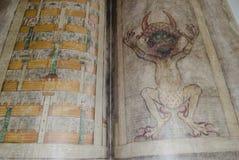 也圣经叫抄本恶魔gigas s 图库摄影