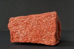 也清洗sylvinite矿物钾盐或或氯化钾在黑背景 免版税图库摄影
