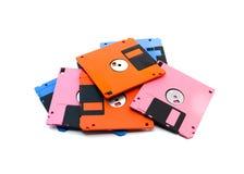 也称磁盘、磁盘或者盘的软盘是数据存储的一个普遍存在的形式 免版税库存图片