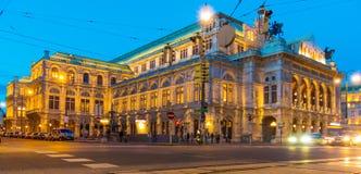 维也纳。奥地利。歌剧 免版税库存图片
