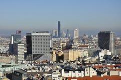 维也纳东部地平线 免版税库存图片