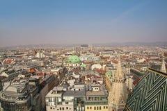 维也纳全景  免版税库存照片