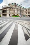 维也纳国家歌剧院大厦在奥地利。 库存图片