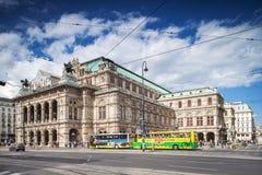 维也纳国家歌剧院大厦在奥地利。 免版税库存图片