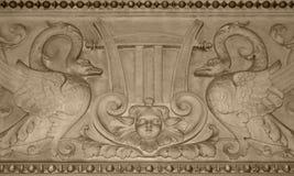 维也纳国家歌剧院的浅浮雕 免版税库存照片