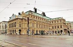 维也纳国家歌剧院议院,奥地利大厦  免版税库存图片