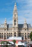 维也纳在Rathaus的电影节,奥地利 库存图片