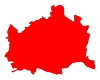 维也纳地图  库存例证