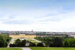 维也纳市和建筑学照片视图  库存图片