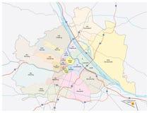 维也纳市地图 向量例证