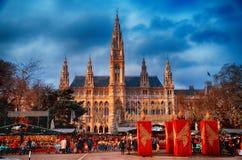 维也纳市政厅 免版税库存照片