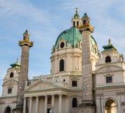 维也纳特写镜头的圣查尔斯的教会 库存照片