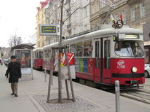 维也纳电车 图库摄影