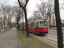 维也纳电车 库存图片