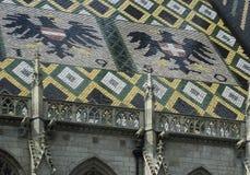 维也纳的大教堂屋顶  图库摄影