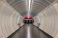 维也纳管隧道 库存照片
