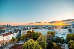 维也纳都市风景在奥地利 免版税库存图片