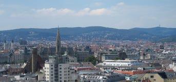 维也纳香港大会堂如被看见从第一个区,奥地利 免版税库存照片