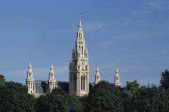 维也纳香港大会堂细节  免版税库存照片