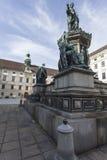 维也纳,奥地利, E U - 2016年6月05日:对皇帝弗朗兹的纪念碑 库存图片