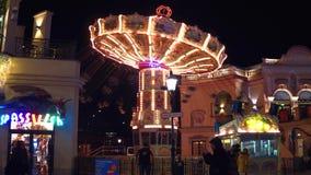 维也纳,奥地利- 2016大链转盘12月, 24,在Prater公园在晚上 普遍旅游 免版税图库摄影