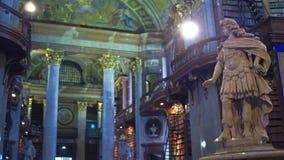 维也纳,奥地利- 12月,奥地利国立图书馆24 Steadicam内部射击  4K录影 影视素材